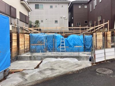 所沢市注文住宅の工事中写真