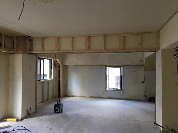 港区赤坂のマンションの工事中写真1